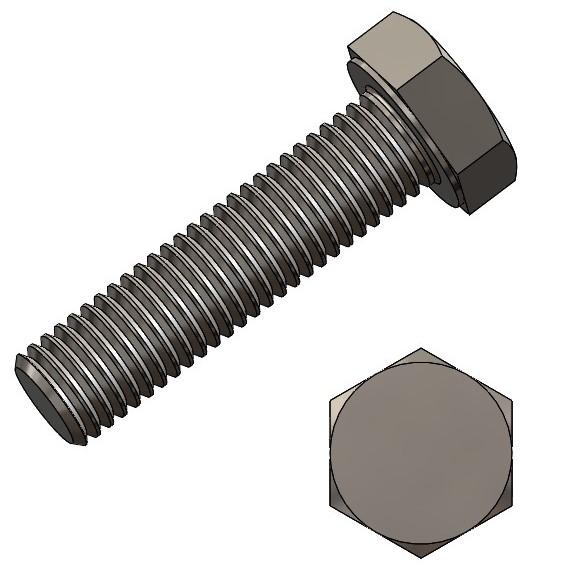 6-kt. Schraube M6x35 verz. DIN 933/ ISO4017
