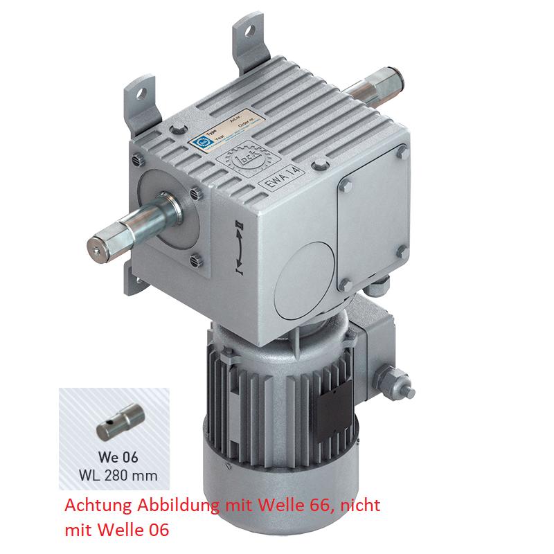 Lock EWA 14.3505 350 Nm 400 V - 4,4 Umdrehungen/Minute - Welle 06