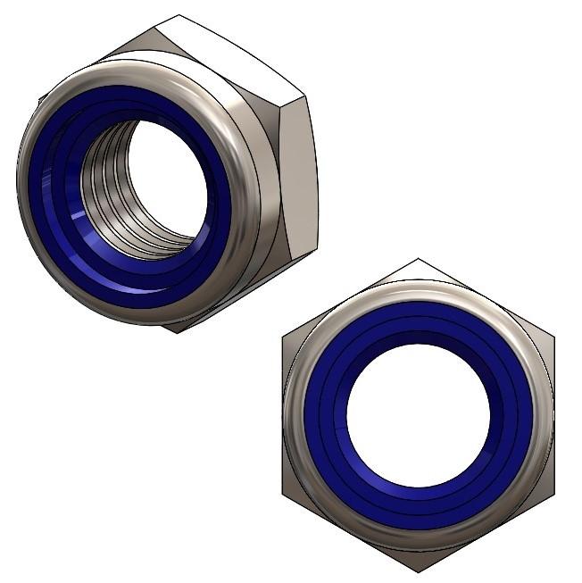 Nylock-Muttern niedrig M8 - A2 ISO 10511